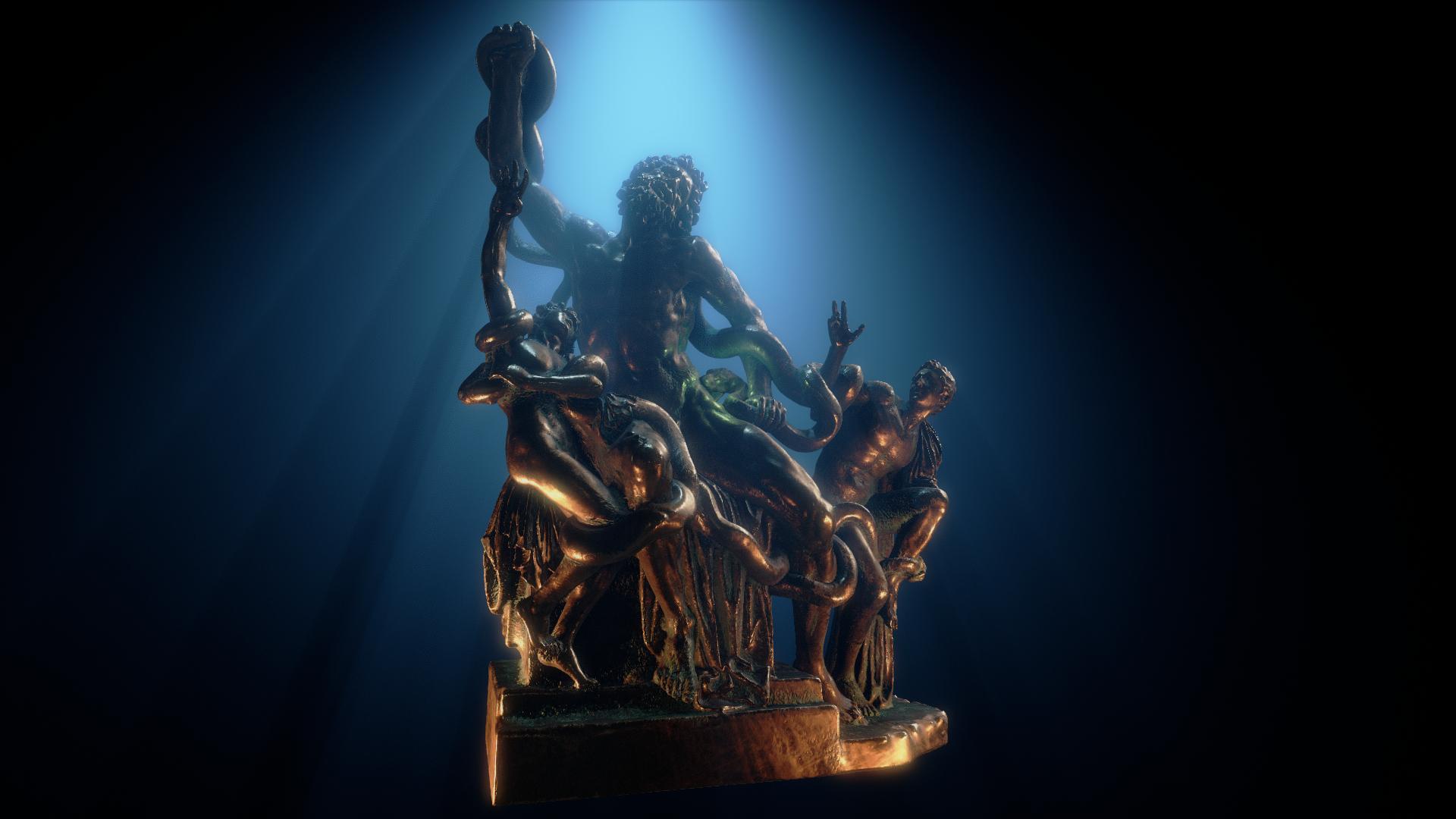statue blue