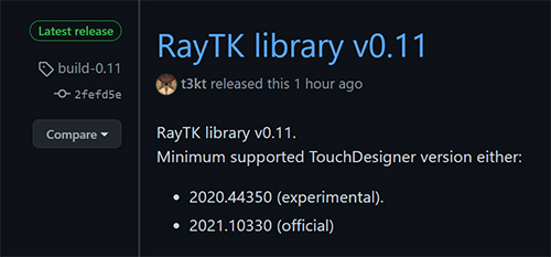 RayTK 0.11 Download