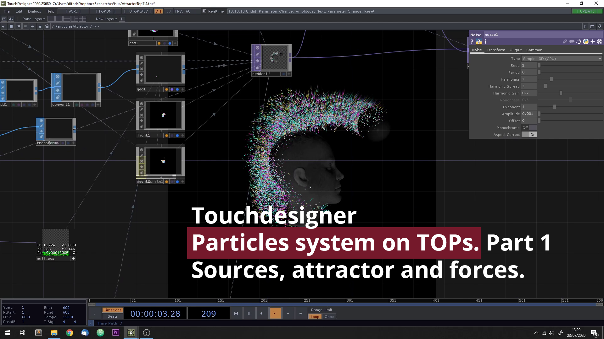 Particles system based on Tops